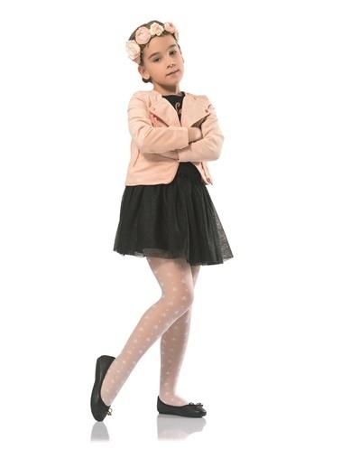 Nbb 20 Denye Yıldız Desenli Çocuk Külotlu Çorap 9261 Pembe